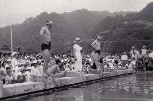 泳ぎ初め プール竣工式37.7.8